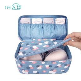 Wholesale bras travel box - Summer Swimming Bag Swimsuit Organizer Underwear Bra Packing For Travel Makeup Organizer Cosmetic Cloth Storage Box