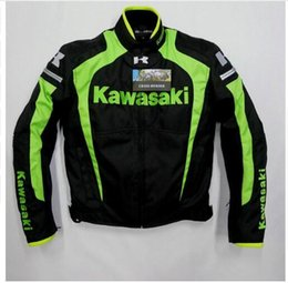 Wholesale Protective Clothing Motorcycle - Latest KAWASAKI Men's Motorcycle riding jackets Racing clothing With removable cotton gall and protective gear B