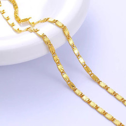 Wholesale necklace embroidery - (253N) 40 cm Necklaces for Women 24k Gold Plated Hot Buy Embroidery Jewelry Fashion Lead and Nickel Free
