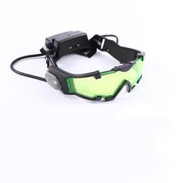 Gafas de ciclismo nocturno online-Clout de plástico Gafas de visión nocturna Equipo de campamento Ciclismo Goggle Niños Protección para los ojos Lente verde Gafas de seguridad frescas 25zj iiWW