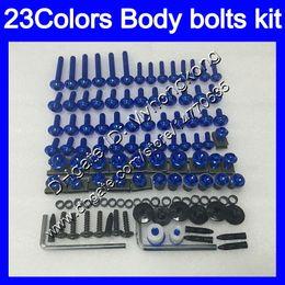 Wholesale Screws Bolts - Fairing bolts full screw kit For YAMAHA YZFR1 00 01 02 03 YZF R1 YZF1000 YZF-R1 2000 2001 2002 2003 Body Nuts screws nut bolt kit 23Colors
