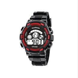 Wholesale Waterproof Watch Alarm - Fashion Men Digital LED Sports Watches Multifunction Luminous Alarm Clock Calendar Wristwatches Unisex Military Waterproof Watch