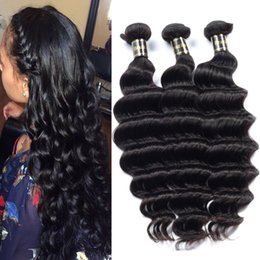 Wholesale Tangle Free Curly Hair Weave - Brazilian Virgin Hair Loose Deep wave Human Hair Bundles Natural Deep Curly Hair Weaves Free Shipping Bundle Deals No Tangle No Shedding