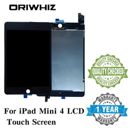 Wholesale ipad lcd touch screen - New Arrival Assembly Replacement For iPad Mini 4 LCD Touch Screen Display Digitizer Glass without Homebutton and Glue