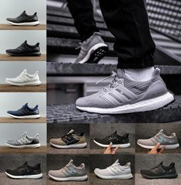 Wholesale Casual Red - 2018 Ultra Boost Running Shoes 4.0 triple white black grey Men Women Ultraboost 3.0 Blue Oreo casual Shoes Sports Sneakers 36-45