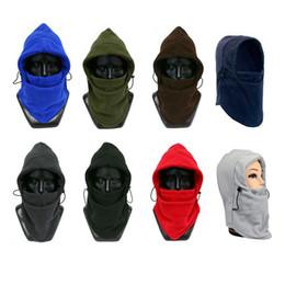2019 chapéus de lã para homens Homens Mulheres Inverno Fleece Hat Ski Equitação Neck Face Máscara Cap Cap chapéus de lã para homens barato