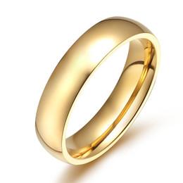 Simples personalidade suave moda titanium anel de aço clássico anel de casamento homens e mulheres modelos ouro varejo atacado de