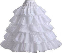 Wholesale plus size crochet skirt - 2018 Tiered Lace Ball Gown Crinoline Petticoats Plus Size Free Size Bridal Hoop Skirt Wedding Accessories On Sale