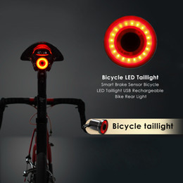 bike brake light rear Promo Codes - Bicycle Rear Light XLITE100 Smart LED Braking Lamp Cycling Light USB Charging Safety Visual Warning Lantern Bike Creative Taill
