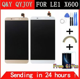 Wholesale cell phone replacement screen - Q&Y QYJOY 5.5 inch White Gold For Letv X600 LCD Display Touch Screen Digitizer Replacement For Letv Le One 1 Cell Phone