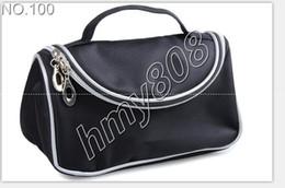 Canada Sacs à cosmétiques de voyage à double fermeture à glissière noire sacs de maquillage sourire sac à main (12PCS / LOT) Offre