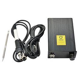 Argentina AC 110 V 220 V OLED T12 controlador de temperatura de la estación de soldadura digital 72 W con enchufe de la UE + mango T12 + punta T12-K Nuevo Suministro