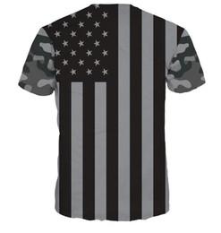 Wholesale T Shirts Wholesale Usa - hot sellign 20pcs USA flag shirt Men Fashion 3D T-shirt novelty casual streetwear men and women tops Short Sleeve Creative printed M~2XL