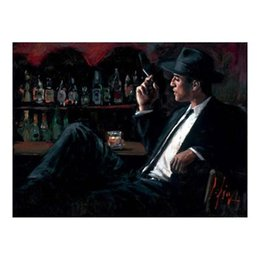 Wholesale impressionism arts - Fabian Perez Whiskey At Las Brujas Handpainted Impressionism Portrait Art Oil Painting,on High Quality Canvas Home Decor Multi sizes,pF162#