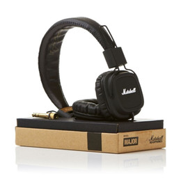 Wholesale Professional Ear Headphones - Marshall Major headphones With Mic Deep Bass DJ Hi-Fi Headphone HiFi Headset Professional DJ Monitor over-ear Headphone