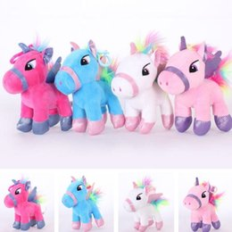Dio peluche online-Lovely Pink Unicorn Doll giocattoli peluche Bambola Dio bestia pony cuscino rosa unicorno Cushion Lovers GiftT7I713