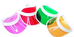 Wholesale Adult Poker - Hot Sale Sun Visor Peak Cap Clear Plastic Sunvisor Party Hat Festival Fancy Dress Poker Headband
