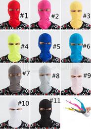 2019 sturmhaubenfarben 11 FARBEN Outdoor Balaclavas Sport Hals Gesichtsmaske Ski Snowboard Wind Cap Polizei Radfahren Sturmhauben Motorrad Masken Kids 'Sunblock GGA722 günstig sturmhaubenfarben