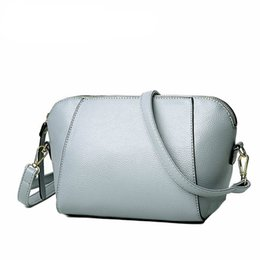 Wholesale Pure White Handbags - New Summer Style Women Shell Bags Fashion Pu Female Shoulder Bag Girls Party Messenger Bags pure color handbags