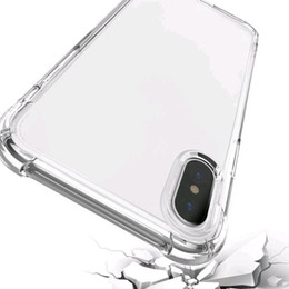 Wholesale air sound - 2018 hot Air cushion shockproof gel tpu sound switching speaker transparent phone case anti shock cover for iphone x 6 7 8 plus s8 R11