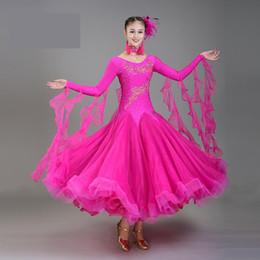 Rumba ropa online-Nuevas mujeres atractivas de malla de malla de manga larga traje de baile ropa de baile mujeres Salsa / salón de baile / Tango / Cha Cha / Rumba / Samba / vestidos latinos