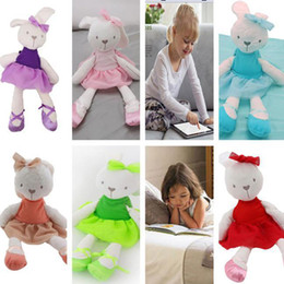 Wholesale Red Stuffed Bear - 42cm Lovely Bunny Rabbit bear Stuffed & Plush toys Kids Sleep stuffed Plush dolls cute Cartoon Education toys for children Gift