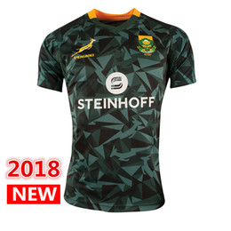 Wholesale Africa Jersey - new new new 2018 2019 South Africa Home Jersey shirt Springboks South African national team rugby jerseys shirts s-3xl