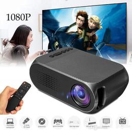 cheap androids en gros Promotion Mini Projecteur YG320 Projecteur Portatif Portable Portail 500LM Audio HDMI USB SD Mini Projecteur YG-320