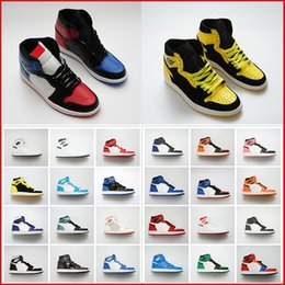 2019 gold sneakers frauen Günstige 1 High OG Spiel Royal Banned Gold Toe Neutral Grau Männer Basketballschuhe 1s TOP 3 Womens Sport Designer Turnschuhe mit Box günstig gold sneakers frauen