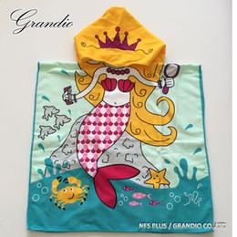 Toalla de baño con capucha Toalla para sirenas de bebé Diseño Niños Albornoz Toalla de playa de viaje de microfibra suave y seco de secado rápido desde fabricantes