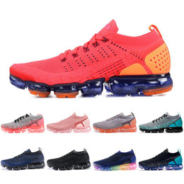 super popular 2e200 13a3f Nike Air Max Vapormax airmax 2018 Red Orbit VM Scarpe da corsa Light Cream  Triple Nero Bianco Hot Punch Designer Uomo Donna Trainer Sport Sneakers  Taglia ...