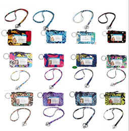 Wholesale Zipper Lanyards - VB Cotton Zip Case with Lanyard ID Card Holder Credit Card Bus Card Case