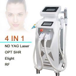 Wholesale Ipl Rf Laser - 2018 stationary multifunction ipl laser rf face lift tattoo hair removal machine elight opt shr rf nd yag laser ipl