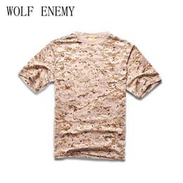 3166b9e71e7 Men Summer Short Sleeve Cotton Tactical T Shirt Outdoor Camping Sports T- shirts Digital Desert Camo