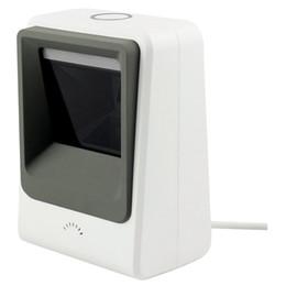 Leitor de tela on-line-Com fio de mãos livres 1D 2D USB CCD Barcode Reader Scanner Para Digitalização de Tela de Computador de Pagamento Móvel, branco