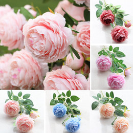 Wholesale Bouquets Peonies - 11 Colors Artificial Silk Flower Peony Flowers real touch flower bouquet artificial flower bouquet wedding decoration flowers EEA393 120PCS