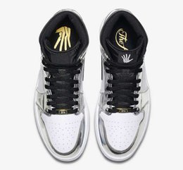 man torch Coupons - Pass The Torch 1s Basketball Shoes White Silver With Box 2018 New Sneaker Mens Top trainers Size 7-13 Michael Sports