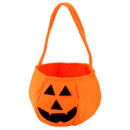 Wholesale Carnival Candy - Carnival Halloween Holiday & Cute Halloween Smile Pumpkin Bag Kids Candy Bag ChildrenNew Arrival Smile