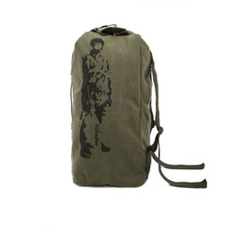 Wholesale large capacity military backpack - Famous Brand Men's Canvas Travel Bag Large Capacity Trip Bag Military Enthusiasts Luggage Bag Light Bagpack Male Army Backpack