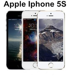 Wholesale Ids Support - Iphone 5s Unlocked Original iPhone 5S support Fingerprint 8MP Camera GPS GPRS Bluetooth WIFI Multi Language LTE Touch ID refurbished Phone