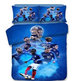 Country World Cup Football Pattern juego de cama de edredón Funda de almohada Twin Full Queen King Size desde fabricantes