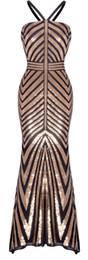 Colonnes robes de bal en Ligne-Sangle féminine de fazadess fille paillettes d'or robe de soirée de la gaine de colonne de bal
