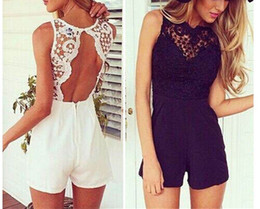 Wholesale playsuit dresses - Hot Selling Sexy Women Lace Playsuit Party Evening Summer Style Ladies Dress CH244