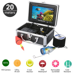 Wholesale Monitor Fish - 20M 1000TVL HD CAM 7inch Monitor Fish Finder Underwater Fishing Video Camera Kit