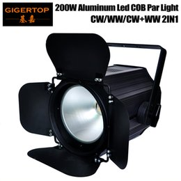 luces de punta Rebajas TIPTOP Stage Light TP-P67 200W Blanco COB Led Par Light Tyanshine Original Barndoor Rotate 35 Degree Reflect Cup Power IN / OUT Conector