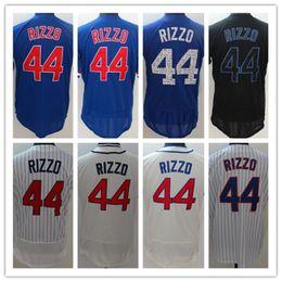92947400b 2017 Elite New Men's Flex base Jersey #44 Anthony Rizzo White Blue Grey  Gold Embroidery Baseball Flexbase jerseys Free Drop Shipping