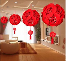 Canada Fournitures de mariage 2018. La décoration de salle de mariage fleur non-tissée, pendentif de joie de caractère chinois. Installez-le vous-même, très beau Offre