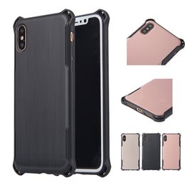 Wholesale Protective Plastic Bumper - Slim Shockproof TPU Bumper Armor Case Durable Lightweight Hard Protective Back Cover for Apple iPhone X 8 7 7 Plus