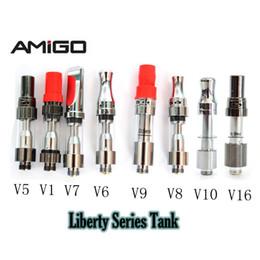 V8 pen онлайн-Масляные картриджи Amigo Liberty V9 керамическая катушка V1 V5 V6 V7 V8 V9 V10 V16 Стеклянные масляные картриджи Vape одноразовые ручки Vape