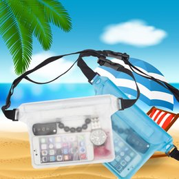 Wholesale diving belt - PVC Waterproof Waist Bag Beach Pouch With Adjustable Belt Swimming Surfing Drifting Diving Waist Pack Phone Protector Handbag DDA448